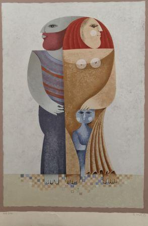 Lithograph Briss - La Famille