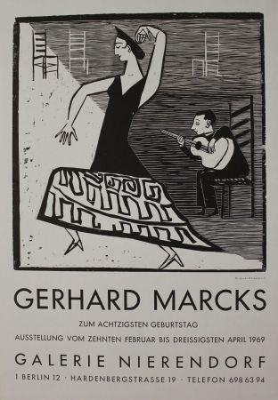 Woodcut Marcks - La farucca