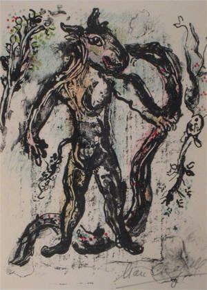 Lithograph Chagall - La Feerie Et Le Royaume
