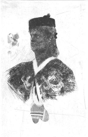 Engraving Rops - La femme au boléro