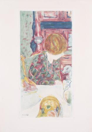 Aquatint Bonnard - La Femme au chien