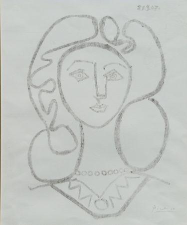 Lithograph Picasso - La Femme Au Collier