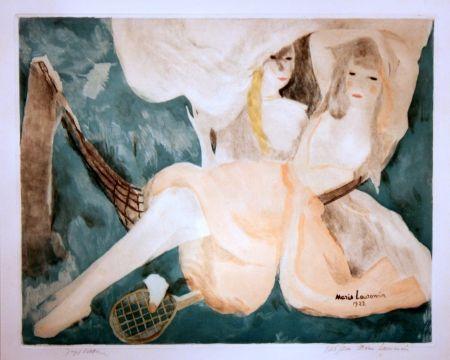 Aquatint Laurencin - La Femme au Hamac