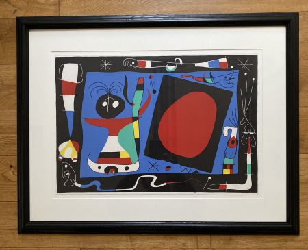 Lithograph Miró - La Femme Au Miroir