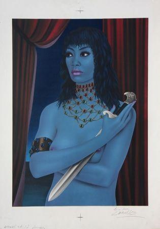 Lithograph Labisse - La Femme avec un Couteau (BAT) - Woman with a Dagger