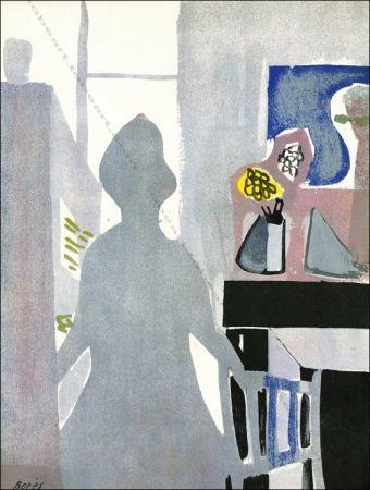 Lithograph Bores - La Femme En Bleu.