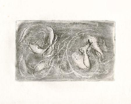 Engraving Fautrier - La femme morte (Fautrier l'enragé)