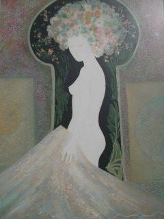 Lithograph Ribes - La femme nue 1