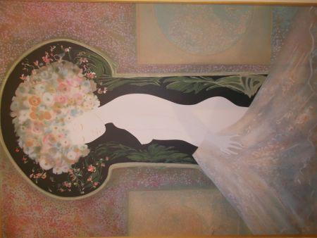 Lithograph Ribes - La femme nue I