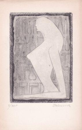 Engraving Prinner - La Femme tondue