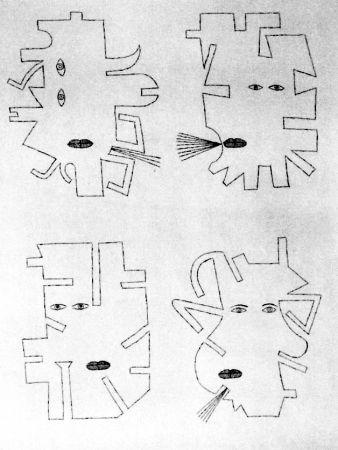 Engraving Brauner - La figure se mimetise à l'image de l'outil