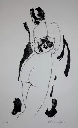 Lithograph Bonnefoit - La fille aux bras croisés / The Girl with arms crossed
