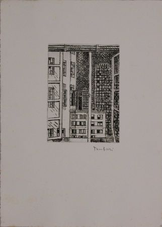 Engraving Tamburi - La finestra sui grattacieli