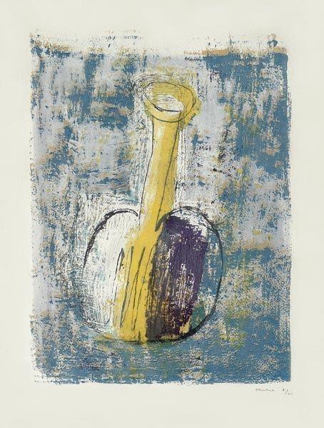Lithograph Fautrier - La Fiole