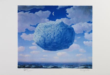 Lithograph Magritte - La Flèche de Zénon (Zeno's Arrow)