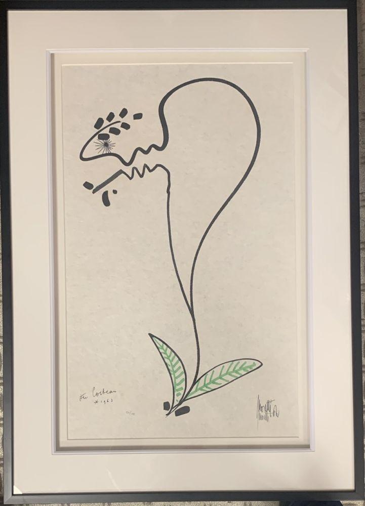 Lithograph Cocteau - La fleur