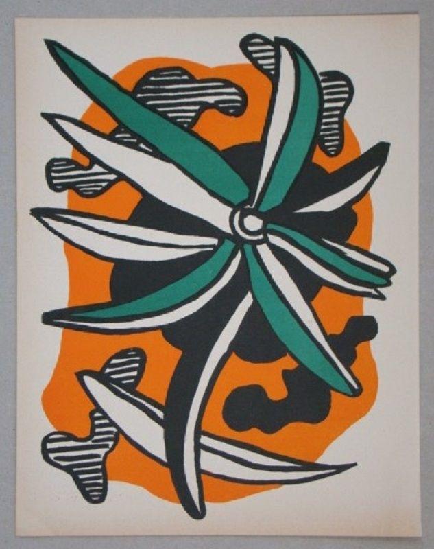 Lithograph Leger - La fleur