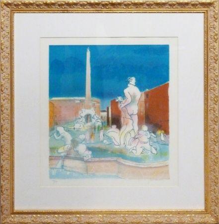 Lithograph Guiramand - La Fontana