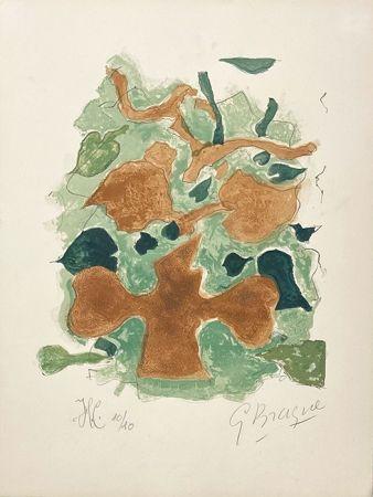 Lithograph Braque - La forêt