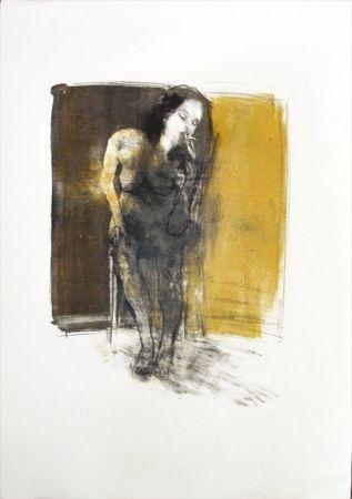 Lithograph Hohler - La Fumeuse