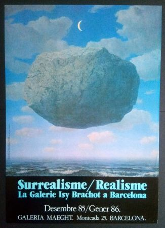 Poster Magritte - LA GALERIE ISY BRACHOT A BARCELONA - MAEGHT 1986