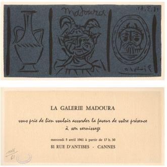 Linocut Picasso - La Galerie Madoura
