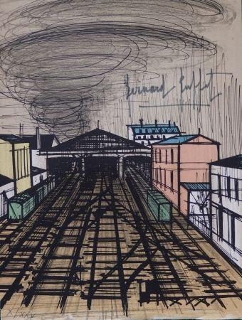 Lithograph Buffet - La gare Saint Lazare