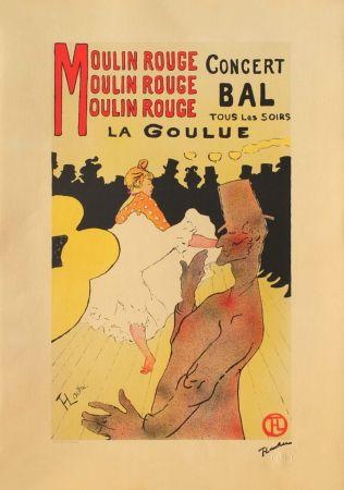 Lithograph Toulouse-Lautrec - LA GOULUE AU MOULIN-ROUGE II