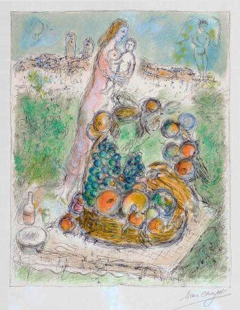 Lithograph Chagall - La Grande Corbeille
