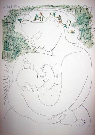 Lithograph Picasso -  La Grande Maternité