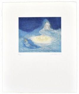 Aquatint Ikemura  - La huida de los montes azules