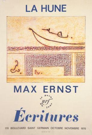 Lithograph Ernst - La Hune  Ecritures
