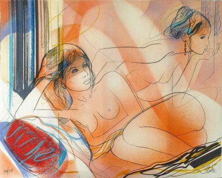 Lithograph Valadie - La Jalousie