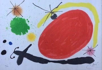 Lithograph Miró - La Japonaise