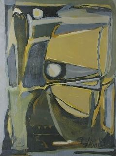 Lithograph Van Velde -  la jaune