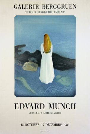 Lithograph Munch - La Jeune Fille sur la Jttée