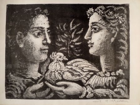 Lithograph Picasso - LA JEUNESSE