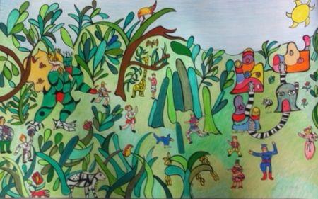 Lithograph De Saint Phalle - La jungle 2