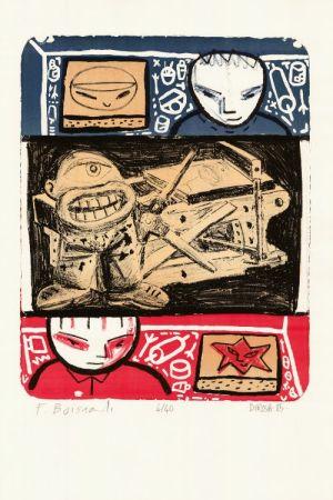 Lithograph Di Rosa - La Leçon de lithographie