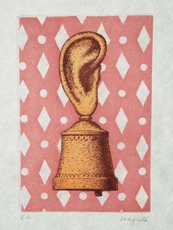 Etching And Aquatint Magritte - La leçon de musique