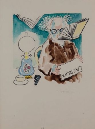 Lithograph Van Dongen - La Lecture du journal