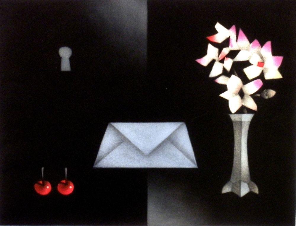 Mezzotint Avati - La lettre a Edgar Allan P.