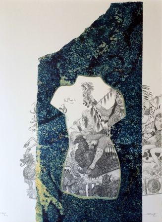 Lithograph Sosno - La liberté Carnaval de Nice