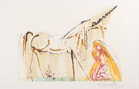 Lithograph Dali - La Licorne (Unicorn)