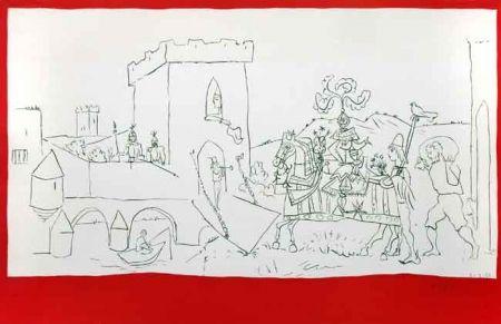 Lithograph Picasso - La Llegada Del Caballero
