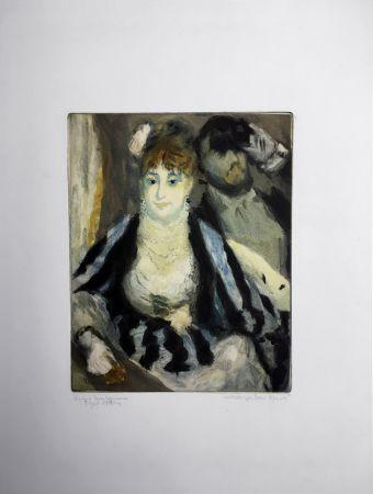 Aquatint Renoir - LA LOGE (d'après Pierre-Auguste Renoir, gravé par Jacques Villon)