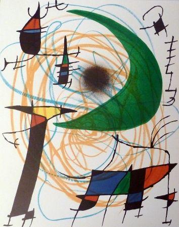 Lithograph Miró - La Lune Verte