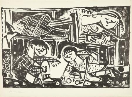 Lithograph Picasso - La mère et les enfants