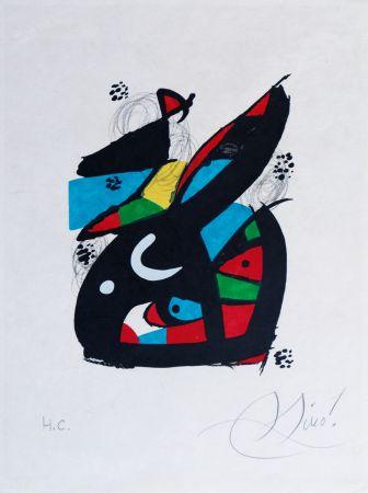 Lithograph Miró - La mélodie acide