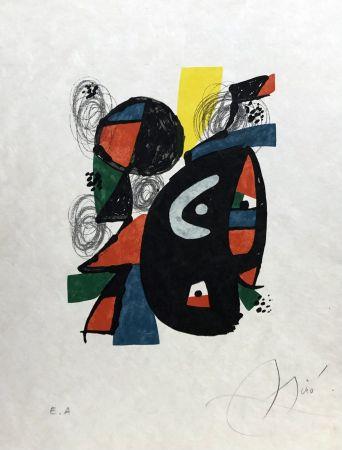 Lithograph Miró - La mélodie acide - 12